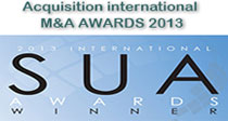 Acquisition international M&A Award 2013